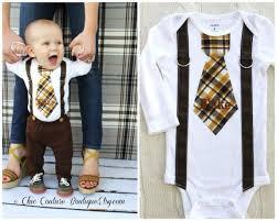 baby boy personalized tie and suspenders bodysuit birthday