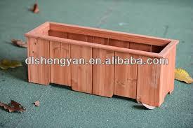 eco friendly large garden rectangular antique wooden planters