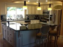 shaped kitchen islands lovely l shaped kitchen island with black countertops 9156