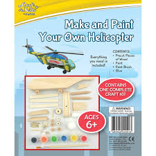 make and paint your own wooden helicopter craft for kids by bms 6