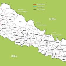 map of nepal and india district maps of nepal market