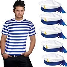 childrens kids boys girls sailor blue white striped t shirt