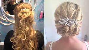 wedding hair half up half down for short hair hairdresser dartford