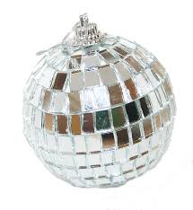 2 hanging disco mirror tree ornament