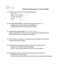 a level maths sum to infinity worksheet by phildb teaching