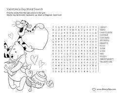 printable disney valentine u0027s day word search game disney u0027s world