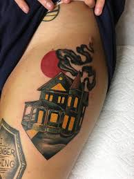 haunted house by jody dawber guest artist at seven swords tattoo