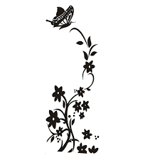 wallpaper kupu kupu hitam putih white and black new hot butterfly flower vine refrigerator wall
