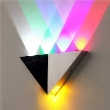 Led Wall Sconce Multi Color Triangle 5w Led Wall Sconce Lamp Up U0026 Down Indoor