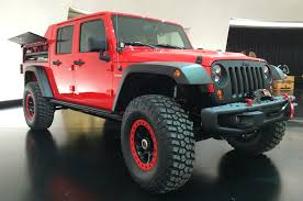 bmw jeep red jeep pulls back cover on wrangler red rock concept motor trend