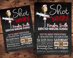 nursing graduation announcements graduation invitation etsy
