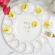 white deviled egg plate deviled egg trays