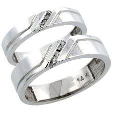 his and hers white gold wedding rings white gold his and hers couples wedding band rings with unique