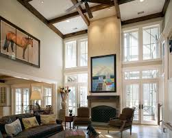 Two Story Family Room Design Pictures Remodel Decor And Ideas - Two story family room decorating ideas
