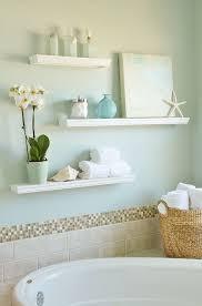 bathroom floating shelf round porcelain sink white porcelain
