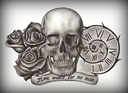 time waits for no man sandclock tatto tattoo ideas time waits