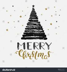 merry christmas poster concept vector greeting stock vector