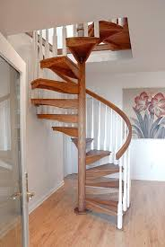 Wooden Spiral Stairs Design Wooden Spiral Staircase Contemporary Steps Frame Without Risers