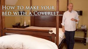 making your bed with a coverlet youtube