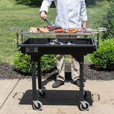 backyard professional charcoal grill pro 30 heavy duty steel charcoal grill with removable legs and cover