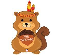 35 thanksgiving american squirrel balloon ruffles