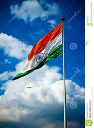 Flag If India National Flag Of India With Blue Sky Birds And Clouds Delhi