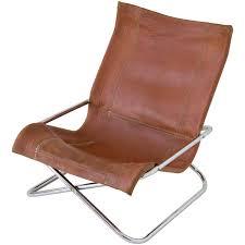 Outdoor Sling Chairs Sueki Uchida Leather Sling Chair At 1stdibs