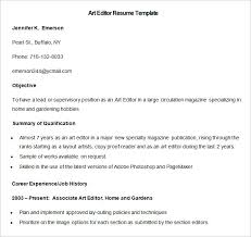 Photo Editor Resume Sample by Media Resume Template U2013 31 Free Samples Examples Format