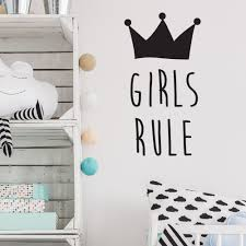 online get cheap quotes girls aliexpress com alibaba group girls bedroom wall decal quotes girls rule removable interior vinyl wall stickers for kids rooms crown