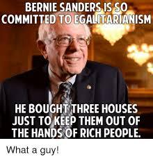 bernie sanders houses bernie sanders is so committed to egalitarianism he boughtthree
