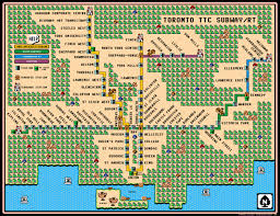 Maps Go Canadian Subway Maps Go Super Mario Style Hungry Hungry Hipsters