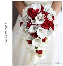 cascading bouquet cascading bouquet artificial calla lilies teardrop wedding bouquet