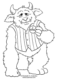 download coloring pages halloween monsters coloring pages