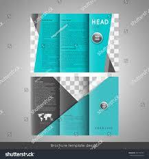 corporate trifold brochure template design triangles stock vector