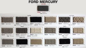 Upholstery Repair Chicago Ford Mercury And Lincoln Interior Auto Repair Swatches Interior
