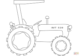 simple tractor coloring page free printable coloring pages