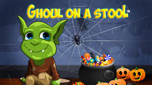 ghoul on a stool children u0027s halloween book and ghoul doll by juan