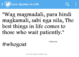 Quotes About Coming Home by The 25 Best In Love Quotes Tagalog Ideas On Pinterest Gods Plan