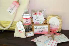 wedding gift bags for hotel welcome bag for your wedding guests