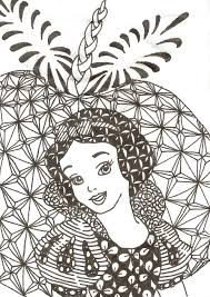 snow white coloring book zentangled princesses snow white by crystal of ix deviantart com