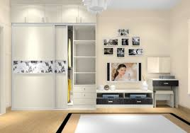 tv cabinets and wardrobes rendering in bedroom italy 3d house