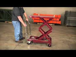 northern industrial tools hydraulic high lift table cart 770 lb