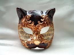 venetian masks cat brown gold venetian mask venetian masks 1001