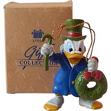 avon scrooge mcduck as ebenezer scrooge ornament sold on ruby