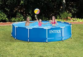 amazon com intex 12 foot by 30 inch metal frame pool set garden
