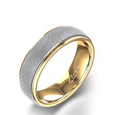 unique wedding rings for unique men s wedding ring in 14k two tone gold