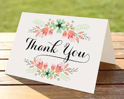 bridal shower thank you card fall autumn floral maroon