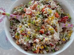 cuisine salade de riz salade de riz fourchettes et pinceaux