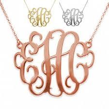 monogram necklaces silver monogram necklaces personalized monogram necklaces