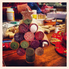 wine cork christmas tree crafty projects pinterest cork and